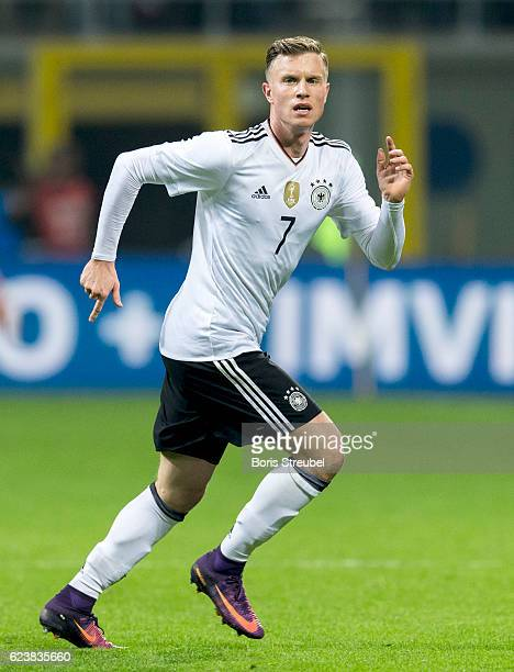 Yannick Gerhardt of Germany in action during the International Friendly Match between Italy and Germany at Giuseppe Meazza Stadium on November 15...