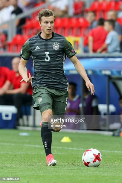Yannick Gerhardt of Germany in action during the UEFA European Under21 Championship Semi Final match between England and Germany at Tychy Stadium on...