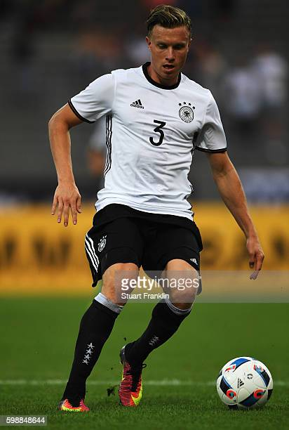 Yannick Gerhardt of Germany in action during the Under21 friendly match between U21 Germany and U21 Slovakia at Auestadion on September 2 2016 in...
