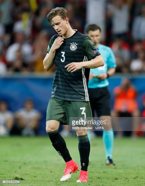 Yannick Gerhardt of Germany looks dejected after missing a penalty during the penatly shoot out after the UEFA European Under21 Championship Semi...