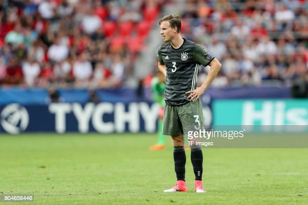 Yannick Gerhardt of Germany looks on during the UEFA European Under21 Championship Semi Final match between England and Germany at Tychy Stadium on...