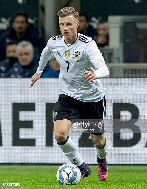 Yannick Gerhardt of Germany runs with the ball during the International Friendly Match between Italy and Germany at Giuseppe Meazza Stadium on...