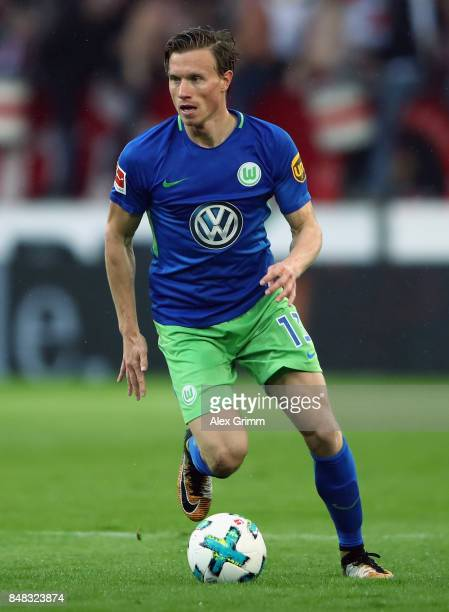 Yannick Gerhardt of Wolfsburg controls the ball during the Bundesliga match between VfB Stuttgart and VfL Wolfsburg at MercedesBenz Arena on...