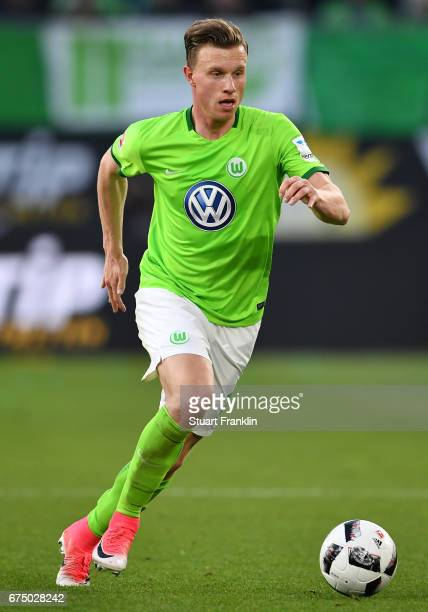 Yannick Gerhardt of Wolfsburg in action during the Bundesliga match between VfL Wolfsburg and Bayern Muenchen at Volkswagen Arena on April 29 2017 in...