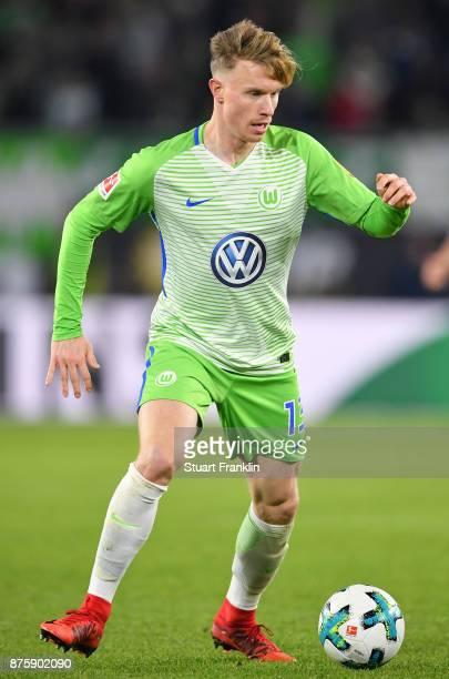 Yannick Gerhardt of Wolfsburg in action during the Bundesliga match between VfL Wolfsburg and SportClub Freiburg at Volkswagen Arena on November 18...