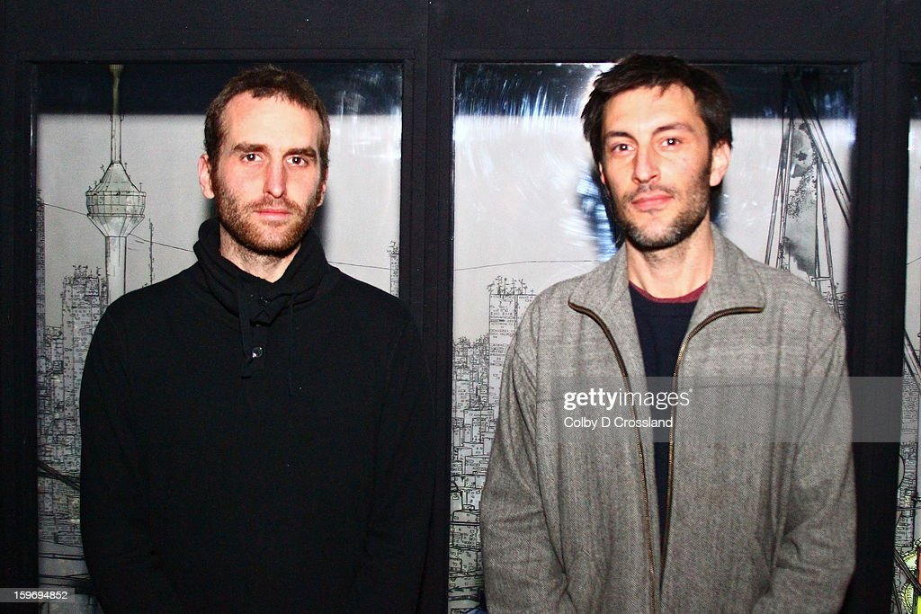 Yannick Jacquet and Thomas Vaquié attend the New Frontier Press Preview at New Frontier during the 2013 Sundance Film Festival on January 18, 2013 in Park City, Utah.