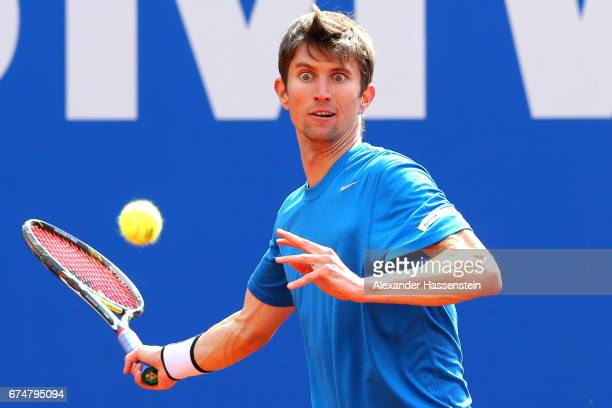Yannick Maden of Germany during his qualification match against Jozef Kovalik of Slovakia for the 102 BMW Open by FWU at Iphitos tennis club on April...