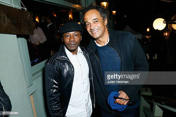Yannick Noah and MC Solaar attend 'Fete le Mur' Celebration 20th Anniversary At Chalet des Iles In Paris on November 9 2016 in Paris France