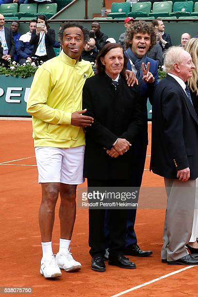 Yannick Noah Guillermo Villas and Gustavo Kuerten attend Amelie Mauresmo entered the 'Hall of Fame' of Tennis and receves the Ring of the...