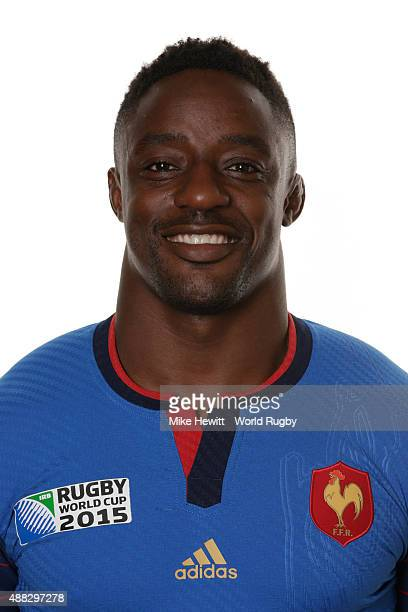 Yannick Nyanga of France poses during the France Rugby World Cup 2015 squad photo call at the Selsdon Park Hotel on September 15 2015 in Croydon...