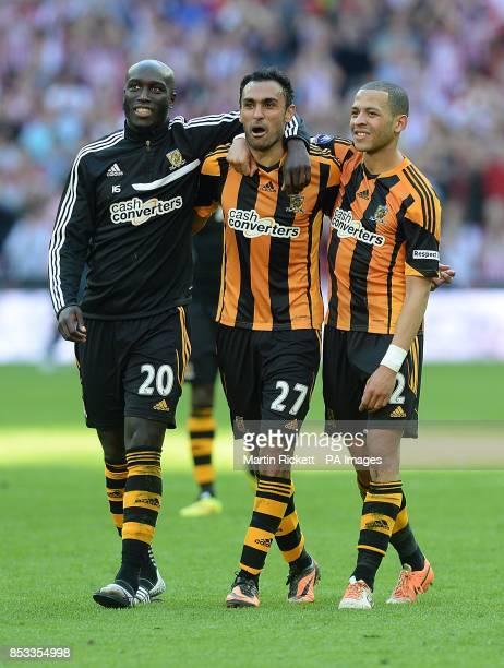 Yannick Sagbo Ahmed Elmohamady and Liam Rosenior Hull City