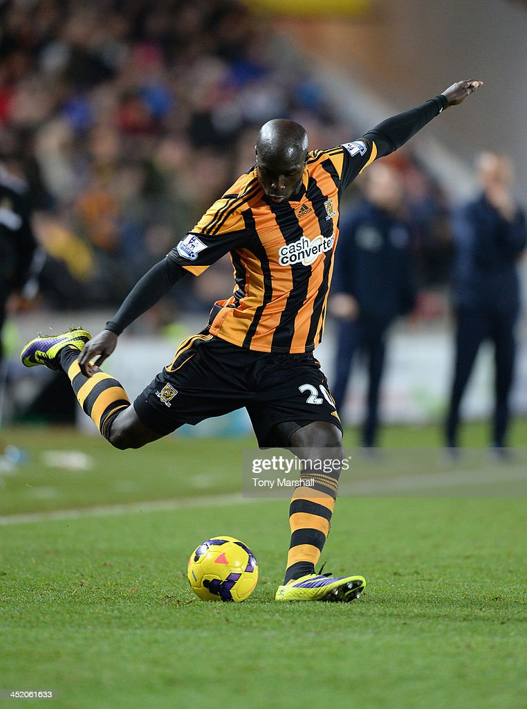 <a gi-track='captionPersonalityLinkClicked' href=/galleries/search?phrase=Yannick+Sagbo&family=editorial&specificpeople=6130628 ng-click='$event.stopPropagation()'>Yannick Sagbo</a> of Hull City during the Barclays Premier League match between Hull City and Crystal Palace at KC Stadium on November 23, 2013 in Hull, England.