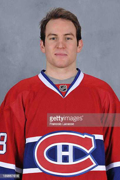 Yannick Weber of the Montreal Canadiens poses for his official headshot for the 20122013 season on January 13 2013 at the Bell Sports Complex in...