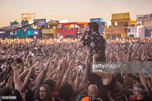 Yannis Philippakis from Foals performs at NOS Alive on July 8 2016 in Lisboa CDP Portugal