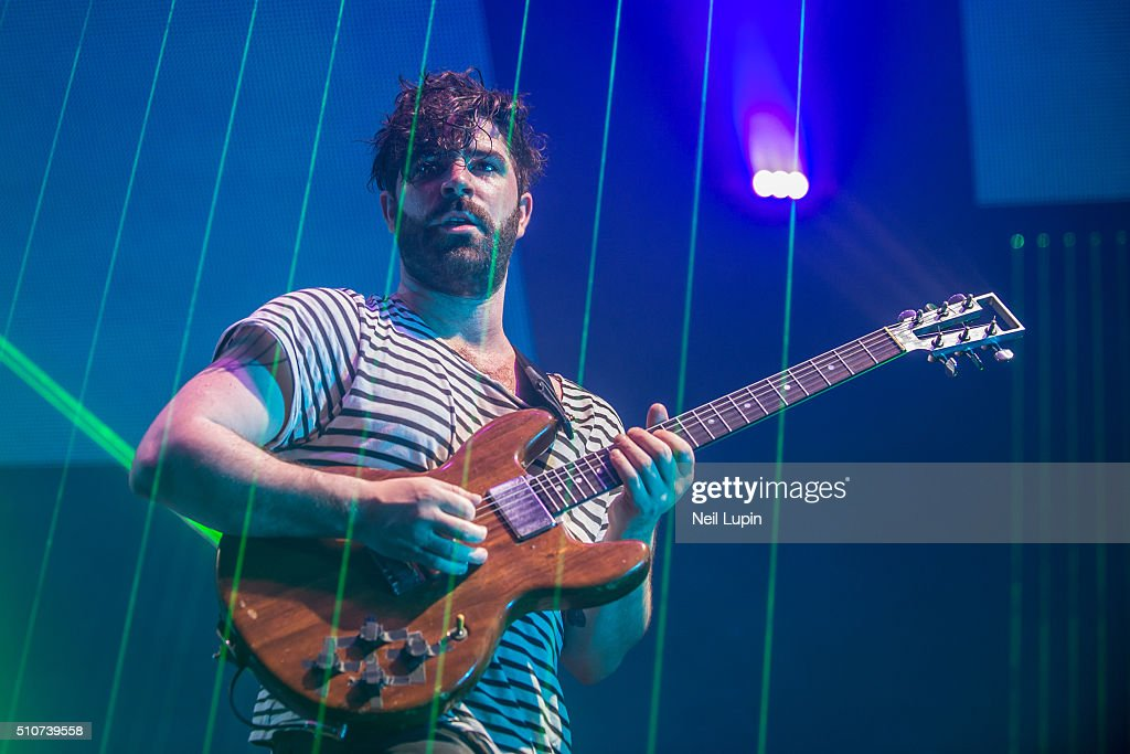 Yannis Philippakis of Foals performs at SSE Arena Wembley on February 16 2016 in London England Photo by Neil Lupin/Redferns
