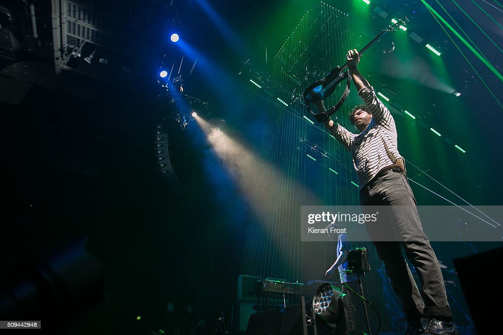Yannis Philippakis of Foals performs at the 3 Arena on February 10 2016 in Dublin Ireland