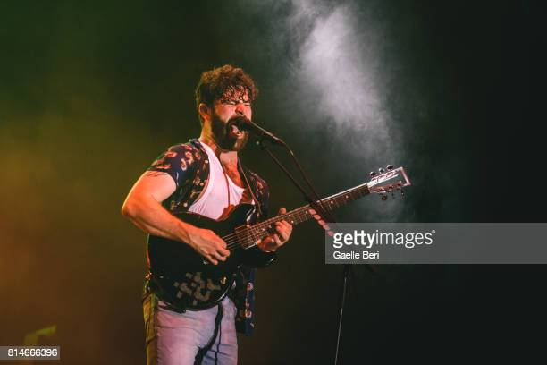 Yannis Philippakis of Foals performs live on Day 2 of FIB Festival on July 14 2017 in Benicassim Spain