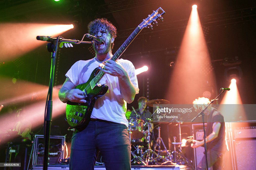 Yannis Philippakis of Foals performs on stage at Montreux Jazz Lab on July 12 2015 in Montreux Switzerland