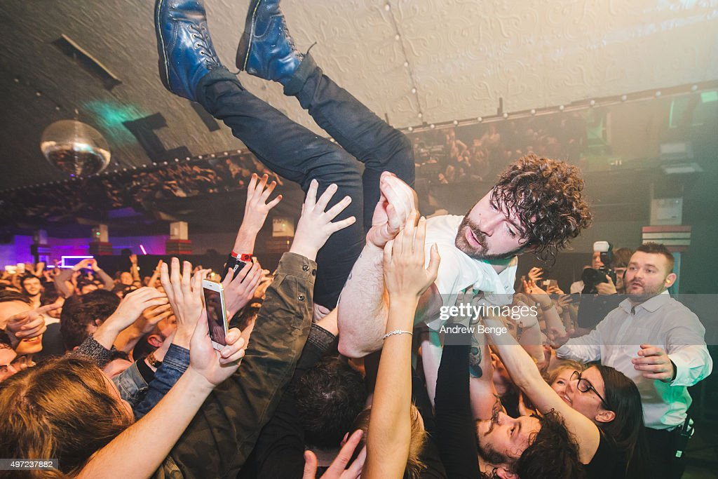 Yannis Philippakis of Foals performs on stage during day 2 of By The Sea Festival at Dreamland on November 14 2015 in Margate England