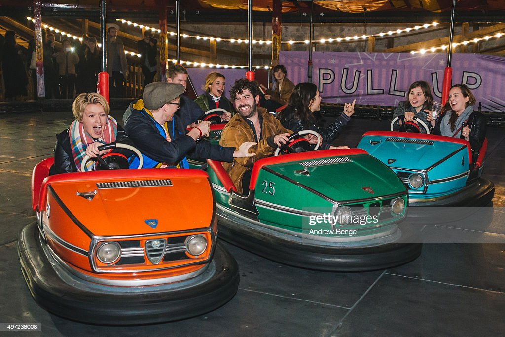 Yannis Philippakis of Foals rides the dodgems during day 2 of By The Sea Festival at Dreamland on November 14 2015 in Margate England