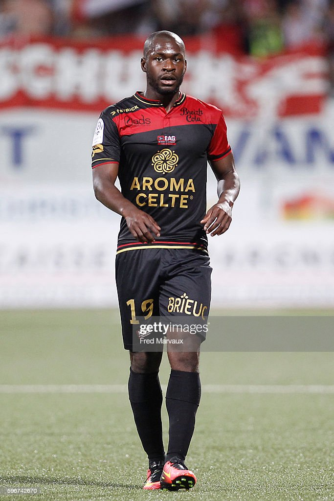 Yannis Salibur of Guingamp during the French Ligue 1 between Nancy and Guingamp at Stade Marcel Picot on August 27 2016 in Nancy France
