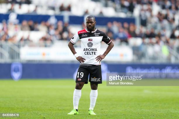 Yannis Salibur of Guingamp during the French Ligue 1 match between Bordeaux and Guingamp at Stade Matmut Atlantique on February 18 2017 in Bordeaux...