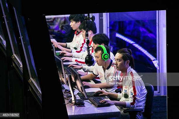 Yao and Rabbit of LGD Gaming compete at The International DOTA 2 Champsionships at Key Arena on July 19 2014 in Seattle Washington