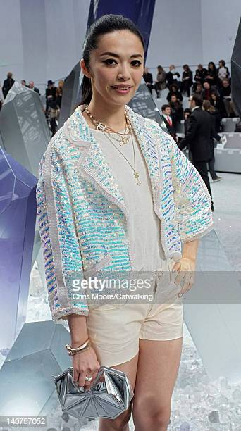 Yao Chen at the Chanel Autumn Winter 2012 fashion show during Paris Fashion Week on March 6 2012 in Paris France
