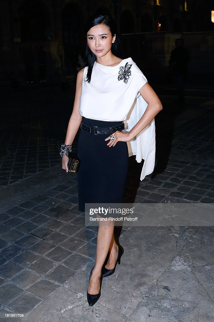 Yao Xing Tong arriving at Lanvin show as part of the Paris Fashion Week Womenswear Spring/Summer 2014, held at 'Ecole des beaux Arts' on September 26, 2013 in Paris, France.