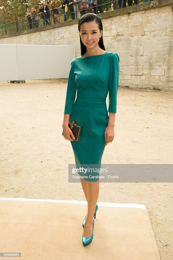Yao Xingtong attends Elie Saab show, as part of the Paris Fashion Week Womenswear Spring/Summer 2014, in Paris.
