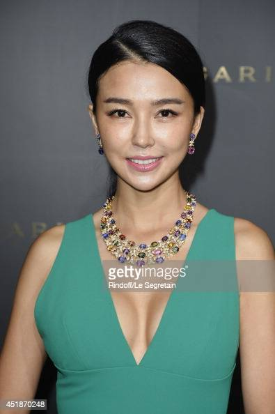 Yao Xingtong attends the Bulgari Cocktail Event At Apicius as part of ... Xingtong Yao