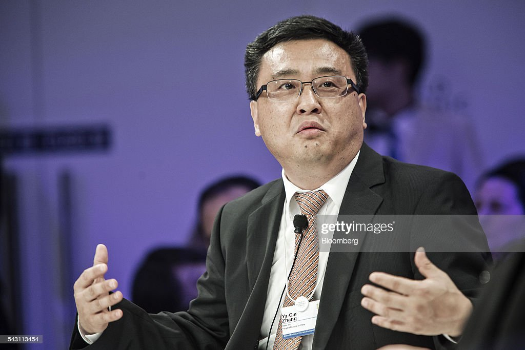 Ya-Qin Zhang, president of Baidu Inc., speaks during a session at the World Economic Forum (WEF) Annual Meeting of the New Champions in Tianjin, China, on Sunday, June 26, 2016. The meeting runs through June 28. Photographer: Qilai Shen/Bloomberg via Getty Images