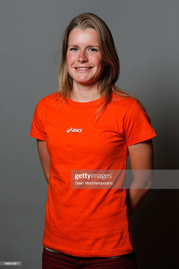 Yara Kerkhof, poses during the NOC*NSF (Nederlands Olympisch Comite * Nederlandse Sport Federatie) Sochi athletes and officials photo shoot for Asics at the Spoorwegmuseum on May 4, 2013 in Utrecht, Netherlands.