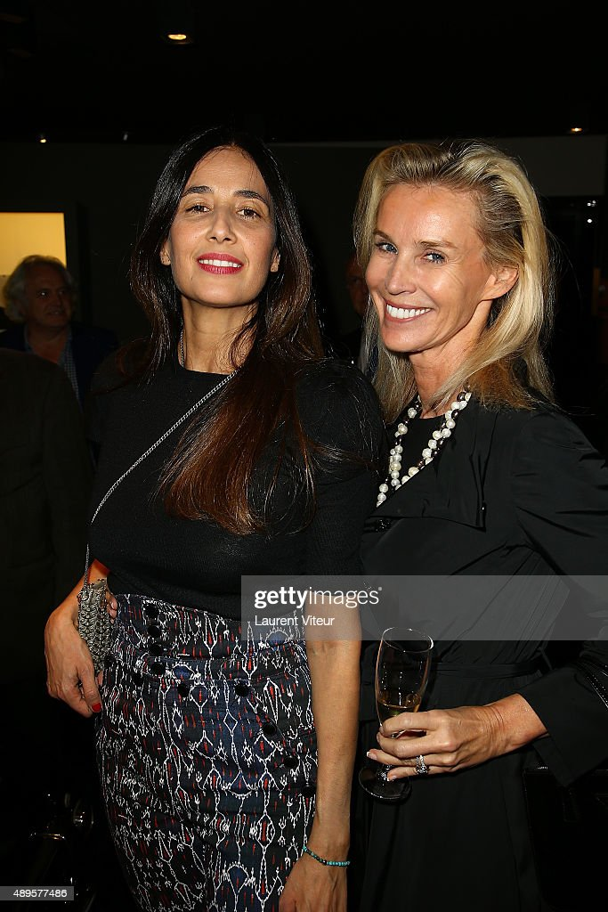 Yara Lapidus and Laura Restelli Brizard attend the 'Maison Fabre x DS World Paris' At The DS Flagshipstore In Paris on September 22, 2015 in Paris, France.