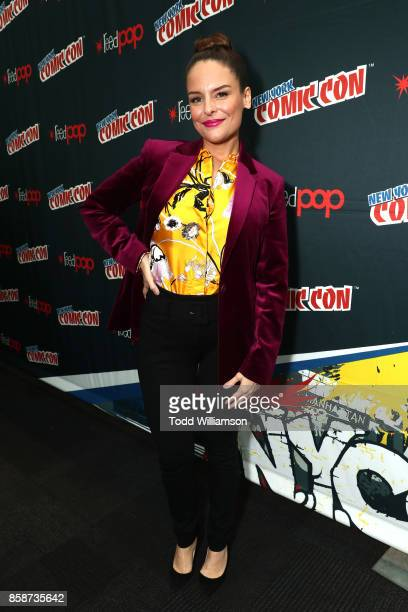 Yara Martinez attends Amazon Prime Video's The Tick New York Comic Con 2017 Press Room at The Jacob K Javits Convention Center on October 7 2017 in...