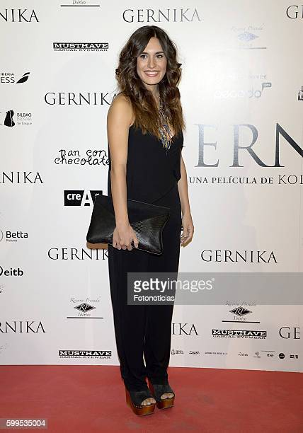 Yara Puebla attends the 'Gernika' premiere at Palafox cinema on September 5 2016 in Madrid Spain