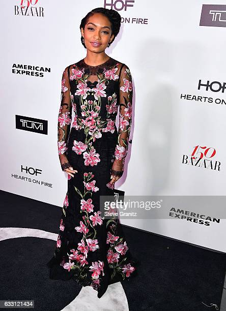 Yara Shahidi arrives at the Harper's Bazaar Celebrates 150 Most Fashionable Women at Sunset Tower Hotel on January 27 2017 in West Hollywood...