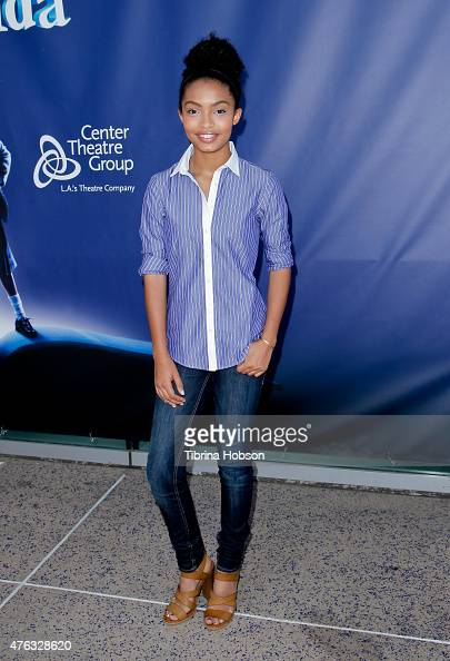 Yara Shahidi attends 'Matilda The Musical' opening night at Ahmanson Theatre on June 7 2015 in Los Angeles California