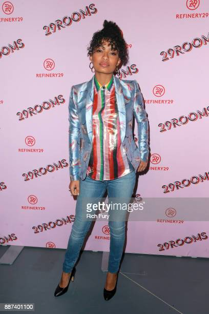Yara Shahidi attends Refinery29 29Rooms Los Angeles Turn It Into Art Opening Night Party at ROW DTLA on December 6 2017 in Los Angeles California
