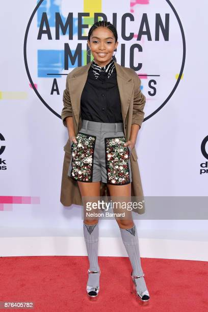 Yara Shahidi attends the 2017 American Music Awards at Microsoft Theater on November 19 2017 in Los Angeles California