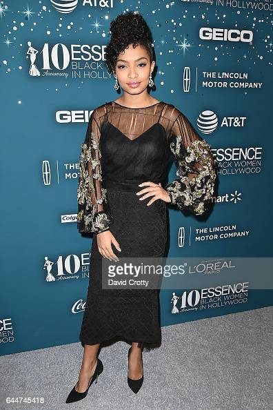Yara Shahidi attends the Essence 10th Annual Black Women In Hollywood Awards Gala at the Beverly Wilshire Four Seasons Hotel on February 23 2017 in...