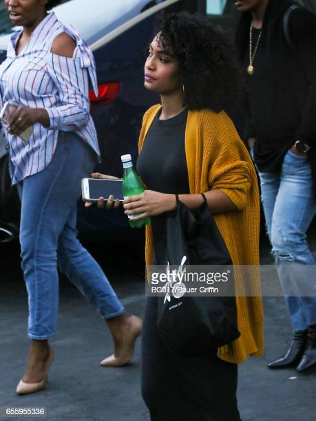 Yara Shahidi is seen at 'Jimmy Kimmel Live' on March 20 2017 in Los Angeles California