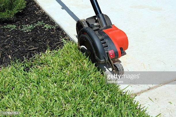 Yard Edger in Action