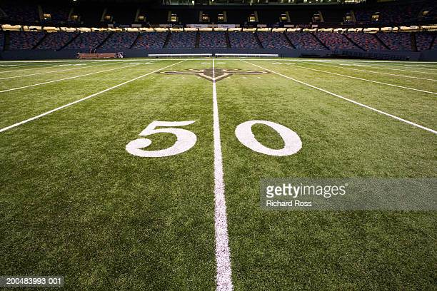 50 yard line on football field