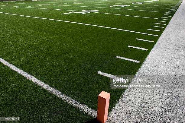 Yard lines on football field