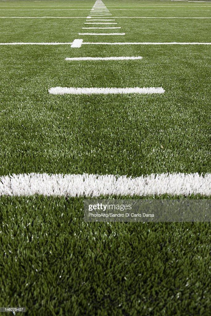 Yard lines on football field