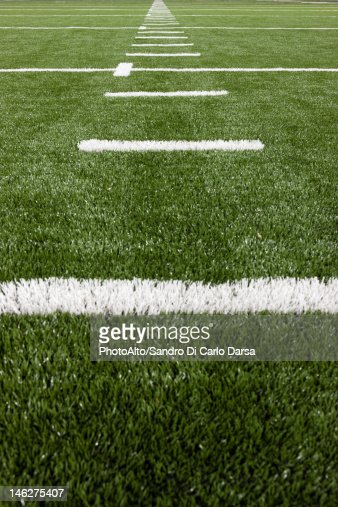 Yard Lines On Football Field Stock Photo Getty Images