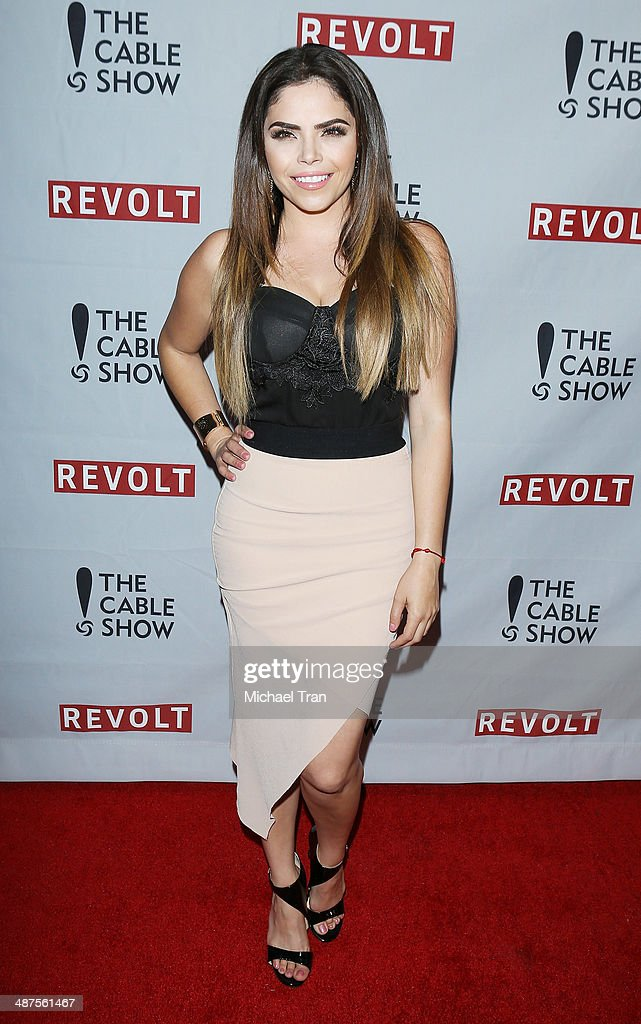 <a gi-track='captionPersonalityLinkClicked' href=/galleries/search?phrase=Yarel+Ramos&family=editorial&specificpeople=6123533 ng-click='$event.stopPropagation()'>Yarel Ramos</a> arrives at REVOLT and The National Cable and Telecommunications Association's (NCTA) celebration of cable party held at Belasco Theatre on April 30, 2014 in Los Angeles, California.