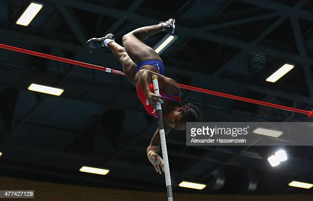 Yarisley Silva of Cuba competes during the Women's Pole Vault final during day three of the IAAF World Indoor Championships at Ergo Arena on March 9...