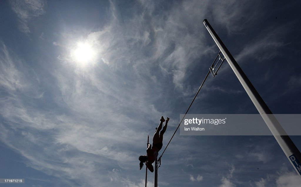 Yarisley Silva of Cuba competes in the women's Pole Vault during the IAAF Diamond League at Alexander Stadium on June 30, 2013 in Birmingham, England.